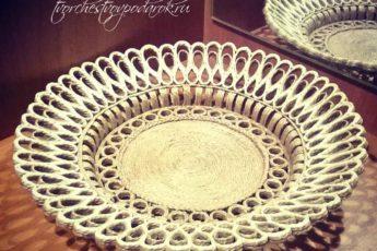 Декоративная настенная тарелка из джута своими руками