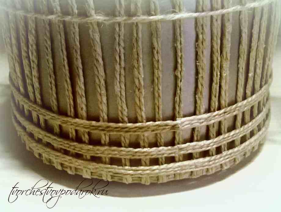 Шкатулки плетеные из шпагата мастер класс пошаговый #5