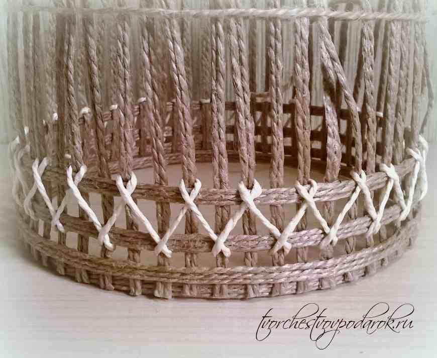 Шкатулки плетеные из шпагата мастер класс пошаговый #4