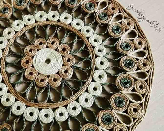 Декоративная тарелка своими руками из джута. Джутовая филигрань мастер-класс схемы узоров трафареты для начинающих.
