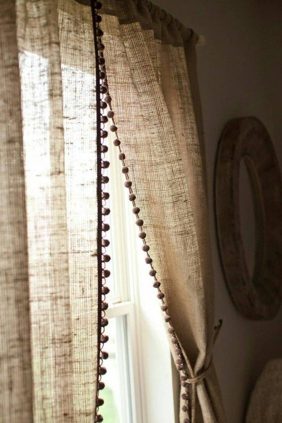 шторы из мешковины своими руками