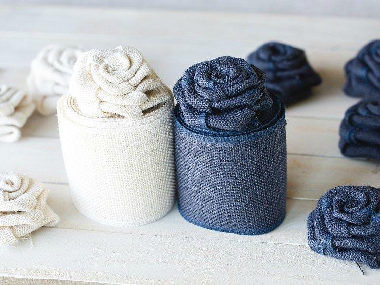 как сделать цветы из мешковины пошагово