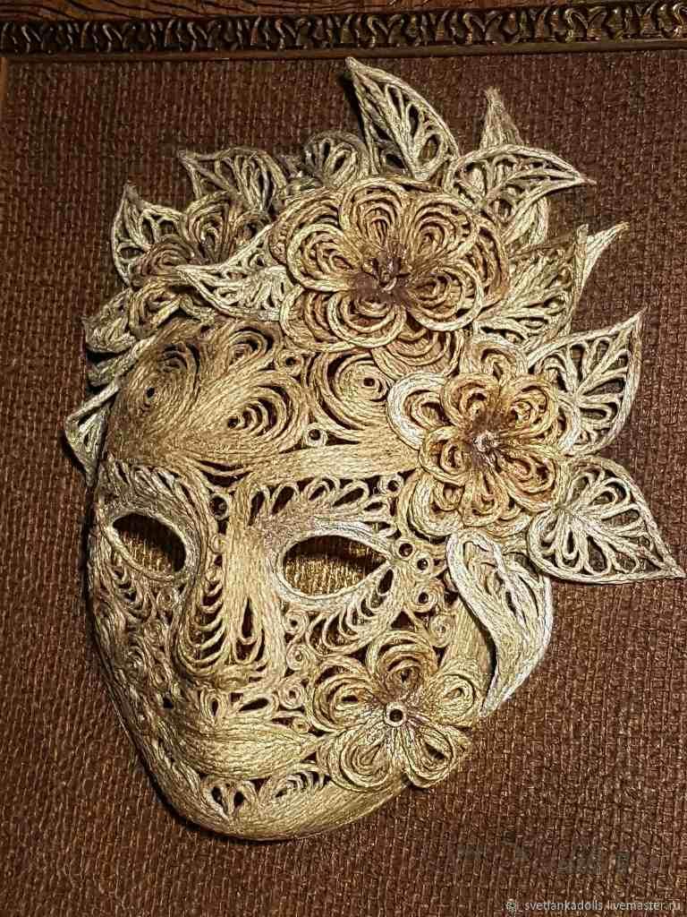 маски из джута своими руками